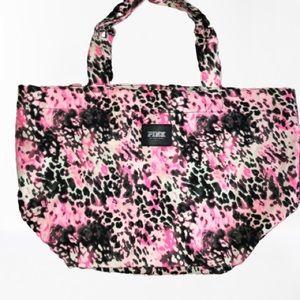 Victoria's Secret PINK Cheetah Fabric Tote Bag